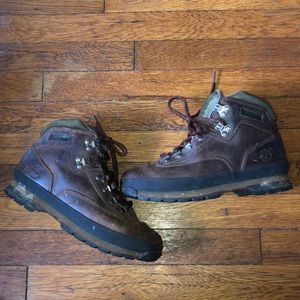 Timberland euro hiker boots brown leather 9 95310